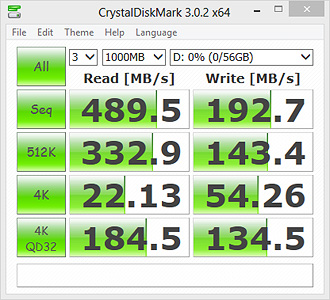 CrystalDiskMark 3.0.2 Bench Results