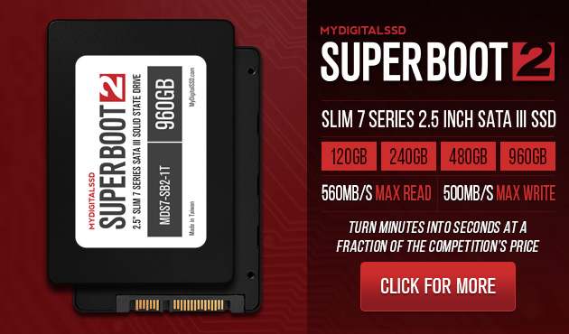 MyDigitalSSD Super Boot 2 Slim 7 Series 2.5 Inch SATA III/6G SSDs