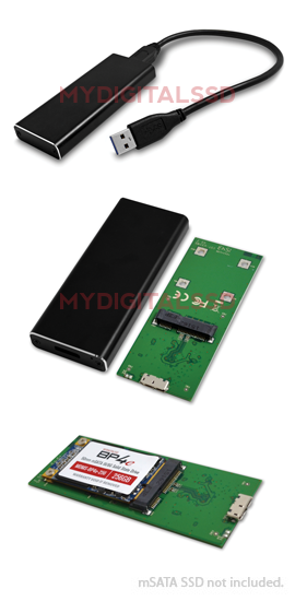 MyDigitalSSD BP USB 3.1 mSATA Enclosure
